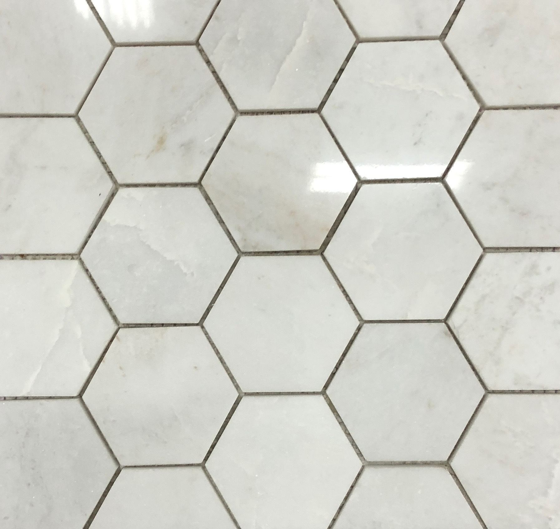 Photo of Sienna White 3″ Hexagon Polished