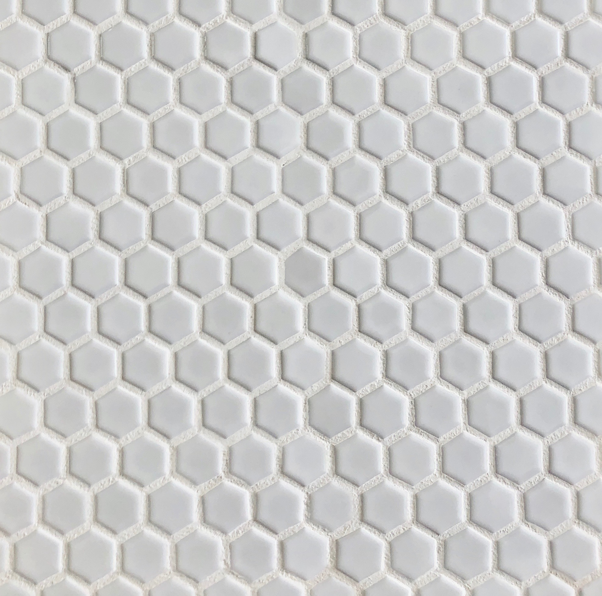 Photo of White Glossy Hexagon 1×1